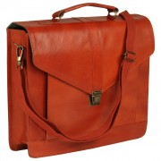 vidaXL Briefcase Real Leather Tan