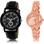 The Shopoholic Black Rose Gold Combo Treny and Precious Black And Rose Gold Dial Analog Watch For Boys And Girls New Watches For Men