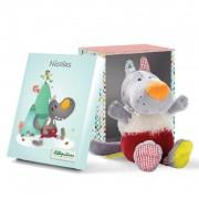 Păpuşă de pluş în cutie de cadou - Nicolas Lupul Drăgălaş