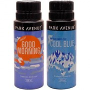 Park Avenue Park Avenue Cool Blue Good Morning Pack of 2 Deodorants Combo Set (Set of 2)