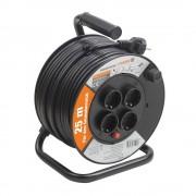Prelungitor pe tambur 25 m, cablu 3x1.5 mm, H05VV-F3G1,5, IP20 Meister Mini,