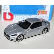 """Bburago 1/43 Street Fire (3.5"""") Maserati MC 12 - Silver"""