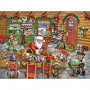 Santa's Workshop Jigsaw Puzzle 550 Piece