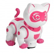 Jucarie pisica robot NewPet DanceCat, functie bump & go, sunete si lumini, 3 ani+