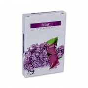 Candela tip pastila parfumata liliac 6/set
