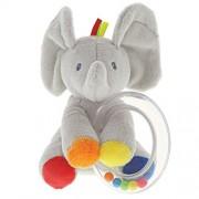 Baby GUND Flappy the Elephant Stuffed Animal Rattle Plush Toy, 5