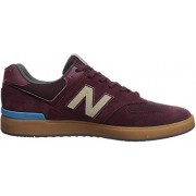 New Balance Men's 574v1 All Coast Skate Shoe, burgundy/gum, 6.5 2E US