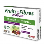 Ortis Fruits & Fibres Regular - Rhubarbe, figue, tamarin - 24 cubes