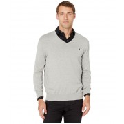 Polo Ralph Lauren Cotton V-Neck Sweater Andover Heather