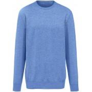 Peter Hahn Heren Trui van 100% kasjmier met ronde hals Van Peter Hahn Cashmere blauw