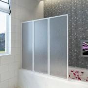 vidaXL Pare baignoire à 3 volets rétractables 117 x 120 cm