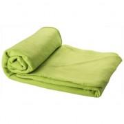 Merkloos Fleece deken lime groen 150 x 120 cm