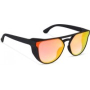 fench hub Oval, Round, Over-sized Sunglasses(Red)