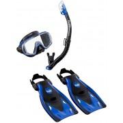 Visio Tri-EX UP-3521 Blue - zestaw maska + fajka + płetwy + torba