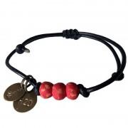 Simbi Pipeline Beaded Bracelet Red