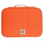 Office Supplies Multi-purpose Zipper Document Folder A4 Storage Bag (Orange)