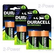 Duracell Uppladdningsbara D 6-Pack