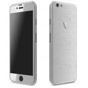Apple iPhone 6 Plus / 6s Plus FoliaTa Skin Kit Carbon Fata / Spate, Silver Metalic