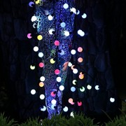 Instalatie decorativa, ghirlanda luminoasa Craciun exterior sau interior pentru Brad si casa, 40 bulbi led - Multicolora 5m