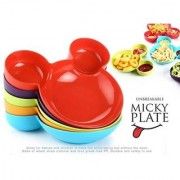 Mickey Mouse Head Plastic Plate - Black