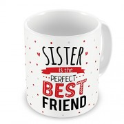 Grabadeal Beautiful White Sister is The Perfect Best Friend Coffee Mug Gift for Raksha Bandhan