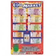 Set bani jucarie carduri monede Euro Market