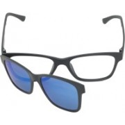 FIZAN Rectangular Sunglasses(Clear, Blue)
