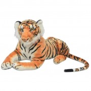 vidaXL Tiger Toy Plush Brown XXL
