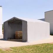 TOOLPORT Industrial Tent 5x8m PVC 720 g/m² grey waterproof