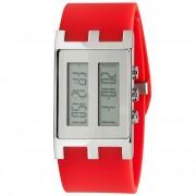 EOS New York Binary NU Watch Red/Silver 120SREDSIL