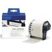Printflow Compatível: Etiquetas Brother branco 62mm x 30.48m (DK-22205)