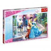 Puzzle copii Trefl, 260 piese, model Disney Princess