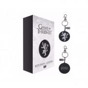 Porte Cle Game Of Thrones - Logo Lannister Metal Argent 5cm