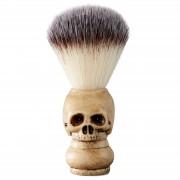 Collin Rowe Blaireau en poils synthétiques et manche en forme de crâne