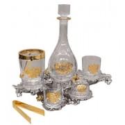 Набор для виски с позолотой Герб