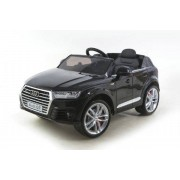 Svart Audi Q7 med gummihjul 12 - Elbil för barn 000050