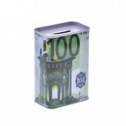 Persely 7,5x4,5x11cm 100 Euros mintával