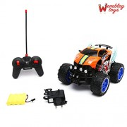Wembley Toys High Speed 4 Channel Rechargeable Remote Control Rugged Off Roader with Suspension and Amazing Lights (Batteries Included)