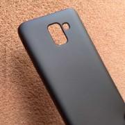Силиконов калъф за Samsung J6 J600F черен гръб Lux