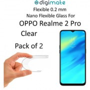 Digimate Nano Clear 0.2 mm Screen Guard Protector Flexible Glass for Oppo Realme 2 Pro (Pack of 2)