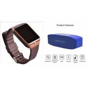 Zemini DZ09 Smartwatch and Hopestar H 11 Bluetooth Speaker for SAMSUNG GALAXY TREND LITE(DZ09 Smart Watch With 4G Sim Card Memory Card| Hopestar H 11 Bluetooth Speaker)