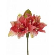 Bellatio flowers & plants Nep amaryllis in koraal kleur 41 cm