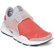 Nike Men Coral Pink & Grey SOCK DART SE Sneakers