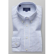 Eton Overhemd Striped Royal Oxford Licht Blauw / male