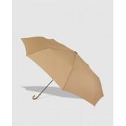Vogue Paraguas Mini De Mujer De Tres Secciones En Beige Liso