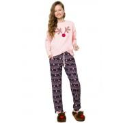 Nadia karácsonyi lányka pizsama rénszarvassal, világos rózsaszín 146