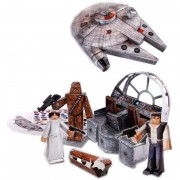 Star Wars Set Papercraft Millennium Falcon Vehicle Pack