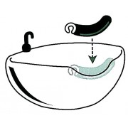 Подложка за глава за фризьорски мивки