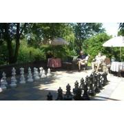 Capetan® Aveo kültéri óriás figurás kerti sakk készlet 64-43 cm méretű időjárás álló műanyag bábúkka
