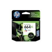 Cartucho HP 664XL Colorido Original (F6V30AB) Para HP Deskjet 2136, 2676, 3776, 5076, 5276